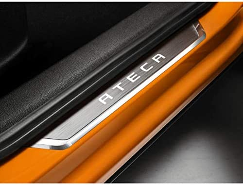 mit Ateca Schriftzug Seat 575071691 Einstiegsleisten INOX vorn Design Edelstahl Leisten Dekor
