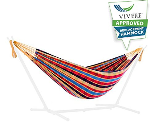 Vivere UHSREP-23 Replacement Hammock, Paradise - Replacement Cotton hammock for the Vivere Uhsdo9 hammock combo's Hammock Only Brand: Vivere - patio-furniture, patio, hammocks - 41auMkZnP7L -