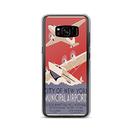 Vintage poster - New York Municipal Airports 0103 - Samsung Galaxy S8 Phone Case