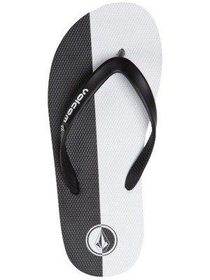 Volcom Mens Rocker Creedlers Flip Flop Sandals 2013 Black White