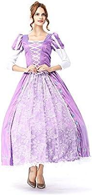 Niceclothstore RapunzelDress ドレスとパニエ 塔の上のラプンツェルコスプレドレス 大人コスチュームドレス 長袖