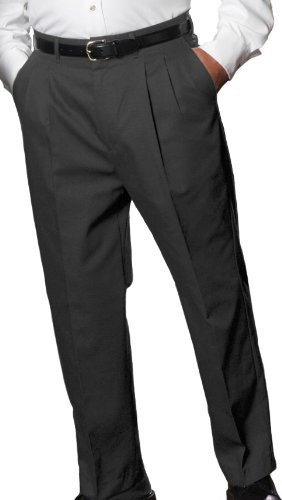 Edwards Garment Men's Pleated Lightweight Wool Brass Zipper Pocket Pant