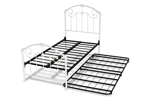 Hillsdale Furniture 325BTWHTR Maddie Bed Set with Frame and Trundle, Twin, White