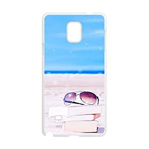 Beach Book And Glasses Fashion Personalized Clear Cell Phone Case For Samsung Galaxy Note4