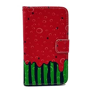 GOG-Watermelon Pattern PU Leather Stand Case with Card Slot for Samsung Galaxy S4 I9500