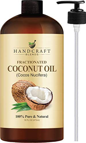 Fractionated Coconut Oil - 100% Pure & Natural Premium Therapeutic Grade - Coconut Carrier Oil for Aromatherapy, Massage, Moisturizing Skin & Hair - Huge 32 OZ