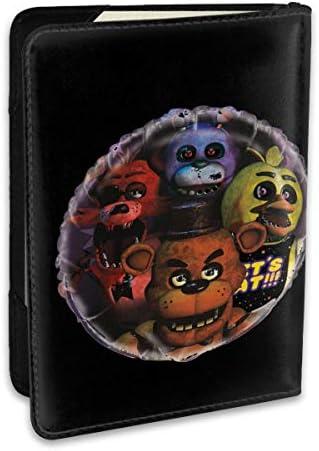Giant Five Nights At Freddy's Balloon 5 夜でフレディ パスポートケース メンズ レディース パスポートカバー パスポートバッグ 携帯便利 シンプル ポーチ 5.5インチ PUレザー スキミング防止 安全な海外旅行用 小型 軽便