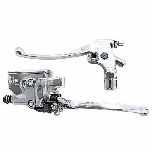 Brake Master Cylinder Lever for Honda NV400 NV600 NV750 VF750 VT250 VT750 VT1100 VT1300 [One Pair. Color: Black/Silver]