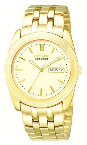 Citizen Men s BM8222-56P Eco-Drive Gold-Tone Day-Date Watch