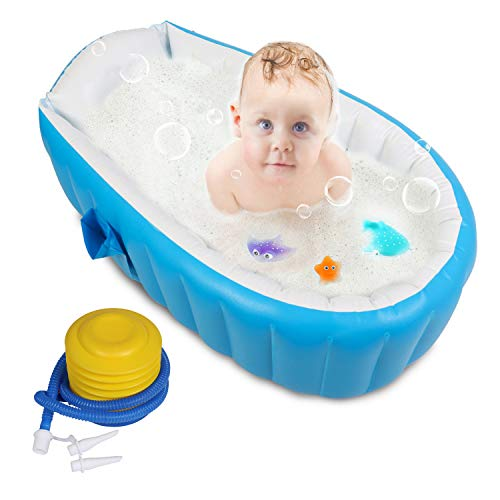 Baby Inflatable Bathtub, FLYMEI Portable Infant Toddler