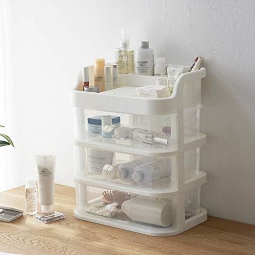 化粧品収納ボックス 引き出し式化粧品収納ボックス大容量に分類可能内蔵ミラープラスチック透明 AFQHJ