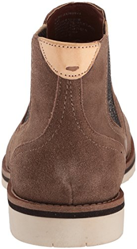 Steve Madden Mens Saine Chelsea Boot Taupe Scamosciato