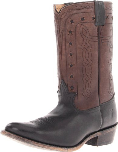 FRYE Men's Wyatt Americana Boot, Black Stone Antiqued, 7.5 M US by FRYE