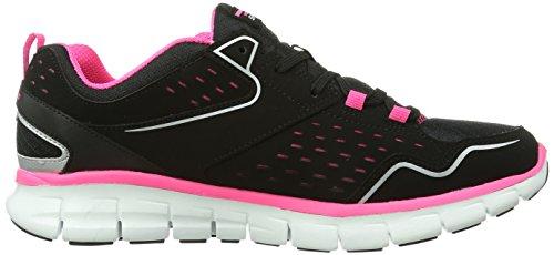 Skechers Sport Donna Sinergia Un Lister Fashion Sneaker Nero / Rosa Caldo