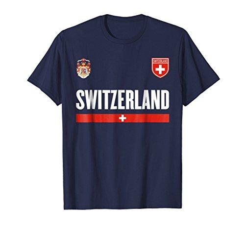 - Mens Switzerland Soccer Jersey 2017 - Swiss Pride T-Shirt 3XL Navy