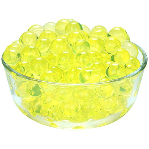 LOVOUS 3000 Pcs Water Beads, Crystal Soil Water Bead Gel, Wedding Decoration Vase Filler - Furniture Decorative Vase Filler, All Occasion Table Centerpiece Decorations (Lemon Yellow)