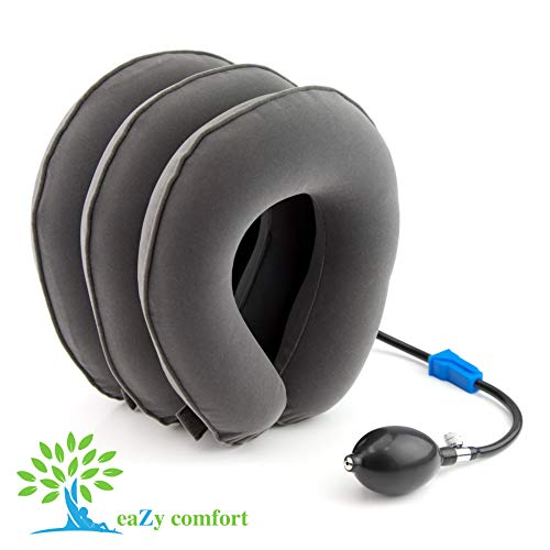 l Neck Traction Device - Inflatable Air Pillow for Home Therapy ()