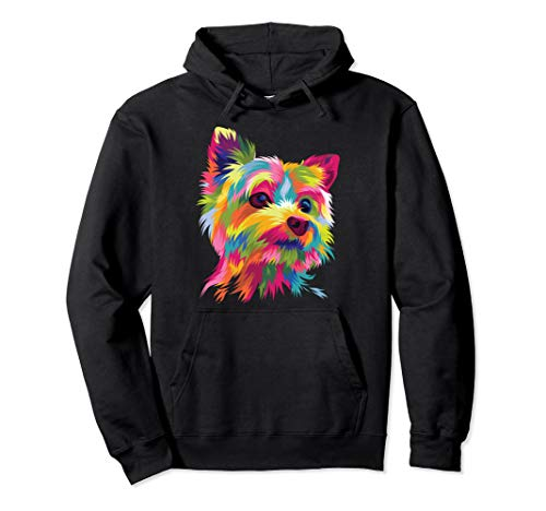 Yorkshire Terrier Hoodie Yorkie Pop Art Popart Dog -