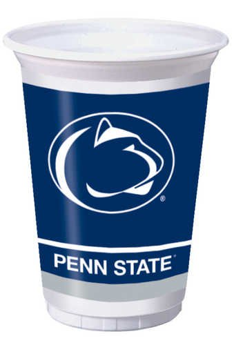 Penn State Nittany Lions 20 oz. Plastic Cups, 8-Count (State Supply)