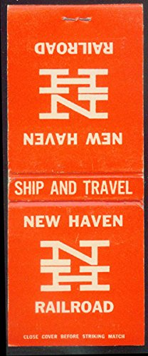 New York New Haven & Hartford Railroad airline matchbook 20-sticks (Airline Railroad)