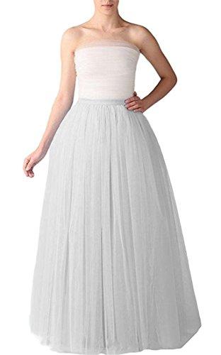 Omelas Women Long Maxi Tulle Skirt A-line Tutu Full Length Skirts by Omelas