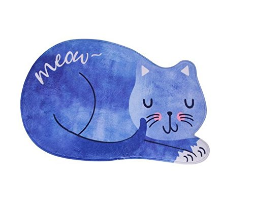 HUAJI Cute Cats Shape Carpets Door Mat for Bath and Room