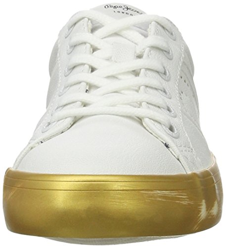 Gold Mirrow Pepe Femme Basses Clinton Or Sneakers Jeans BppZq0OwrE