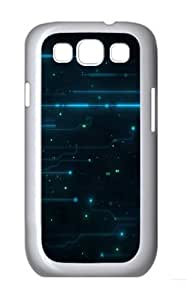 Abstract Tron Legacy Circuits Custom Hard Back Case Samsung Galaxy S3 SIII I9300 Case Cover - Polycarbonate - White by lolosakes