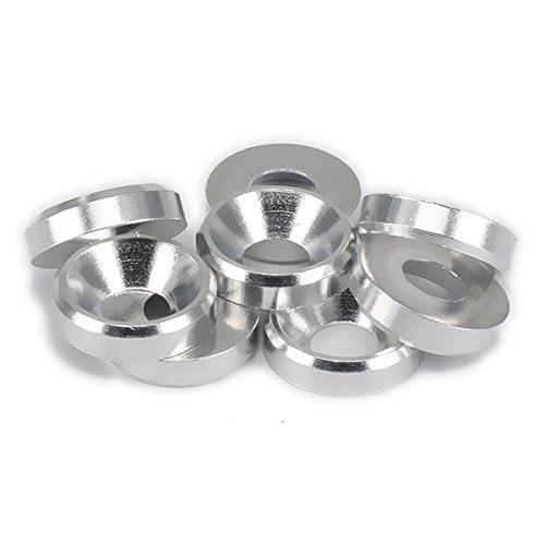 Part & Accessories M4 4mm Flat Head Countersunk Washer x 8 for RC Hobby Model Car buggy truck upgraded Parts Axial HPI Traxxas Himoto Redcat Losi - (Color: Silver)