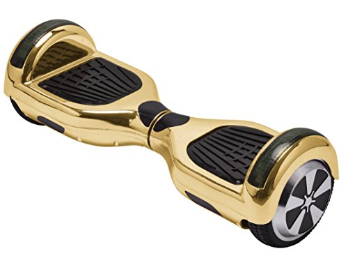 UL2272 Certified Hoverboard with Bluetooth Speaker and LED Lights Smart Self Balancing Scooter Personal Adult Transporter- Chrome Gold