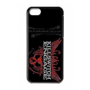 Killswitch Engage caja del teléfono celular 5c funda funda iPhone 6 cubren negro, funda de plástico caja del teléfono celular