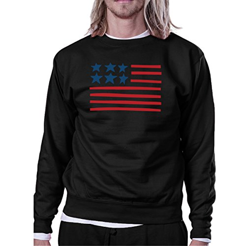Sweatshirt 365 Manches Flag shirt Printing Usa Femme Longues Black Unique Sweat Taille CxrPqwACZ