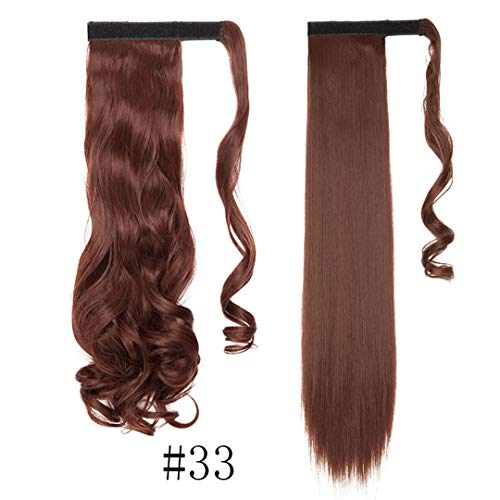 17''23'' Long Wavy Clip In Hair Tail False Hair Hairpiece With Hairpins Synthetic Hair Extension 33- Wavy-17inch