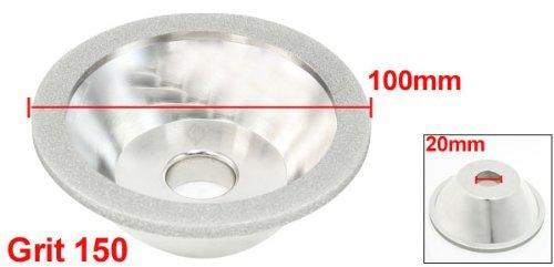 DealMux 150 Grit 100 milímetros Fora Dia 20 milímetros furo bacia da forma 11C9 rebolo de diamante