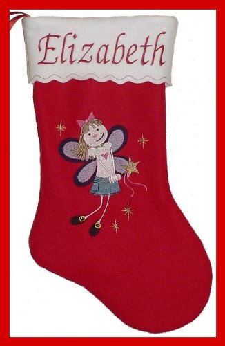 "17"" Personalized Fairy Princess Christmas Stocking"