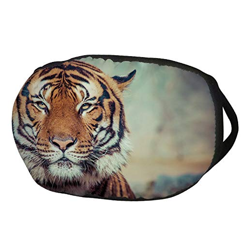 (Fashion Cotton Antidust Face Mouth Mask,Tiger,Large Feline in a Calm State with Blurred Background Close up Image of a Beast,Orange Multicolor,for women & men)