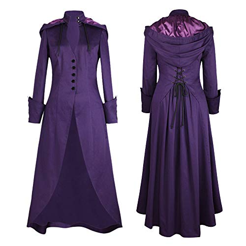 Baigoods-Clothes Women Long Sleeve Solid Trim Button Bandage Cape Irregular Tailcoat Outwear ()