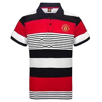 Manchester United FC - Polo oficial para hombre - A rayas: Amazon ...