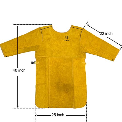 Allshield A44-1874 Welding leather Clothes Coat with Sleeves by Allshield (Image #2)