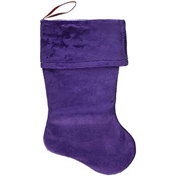 mirage pet products plain velvet christmas stocking size 18 purple - Purple Christmas Stocking