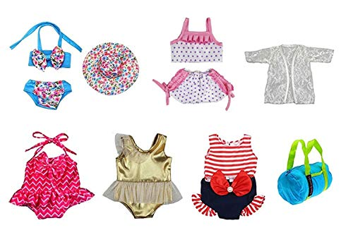 Brynhildr Doll Bathing Suit Set 8 Piece for 13-18 inch Doll Clothes