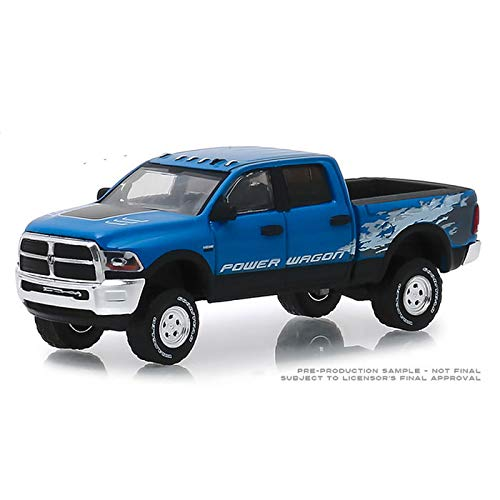 Greenlight 2016 Dodge Ram 2500 Power Wagon Pickup Truck Blue Streak Pearlcoat \Hobby Exclusive\ 1/64 Diecast Model Car