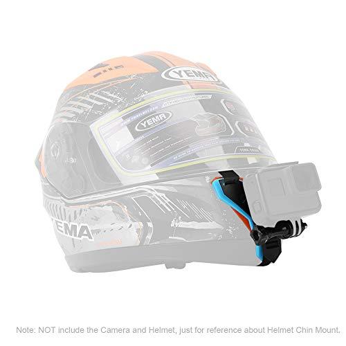 Helmet Chin Mount for GoPro Hero 5 6 Action Camera, GoPro Hero 5 6 Helmet Mount Kit for Motocycle Kart Racing Extreme - Gopro Motorcycle Helmet Mount 4