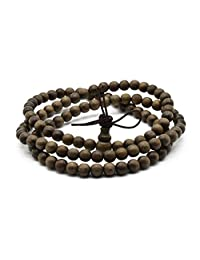 Zen Dear Unisex Burried Ebony Prayer Beads Buddha Buddhist Prayer Beads Meditation Mala Necklace Bracelet