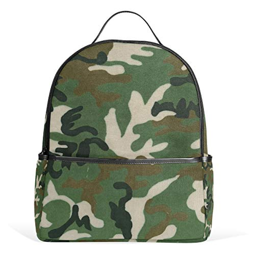 (Green Camouflage School Backpack For Girls Kids Elementary School Bags Student Daypack)