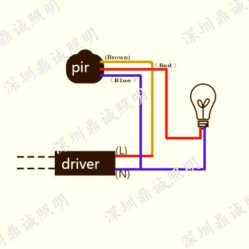 2 interruptores de sensor de infrarrojos PIR de 220 V 110 V 12 V autom/ático infrarrojo de movimiento PIR detector de movimiento autom/ático de la pared del interruptor de la luz LED