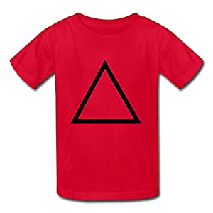 Email Us Custom Kids T-shirt With Your Own Photos, Artwork Or Design,personalized Triangle Outline Short Sleeve Cotton T-shirt-small