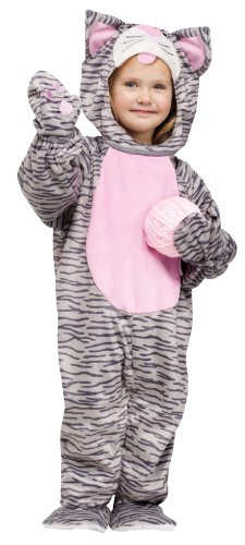 Fun World Little Stripe Kitten Toddler Costume-3T-4T (Cat Costumes For Toddlers)
