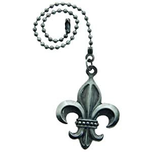 Lazart 174 Fleur De Lis Pewter Pull Chain For Ceiling Fans