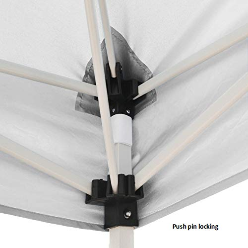 Impact Canopy 10' x 10' Pop-Up Canopy Tent, Instant Slant-Leg Portable Shade Tent with Carrying Bag, White by Impact Canopy (Image #5)